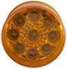 "Sealed, Miro-Flex, 2"" Round, LED Trailer Side Marker, Clearance or ID Light, 9 Diode - Amber"