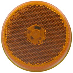 "Sealed, 2-1/2"" Round LED Trailer Clearance, Side Marker Light with Reflector, 8 Diode - Amber"