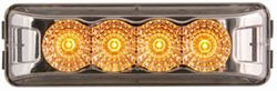 Sealed, Miro-Flex, Thin Line, LED Trailer Marker/Clearance/ID Light, 4 Diode - Amber w/ Clear Lens