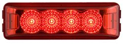 Miro-Flex Thinline LED Trailer Clearance or Side Marker Light - Sumbersible - 4 Diodes - Red Lens