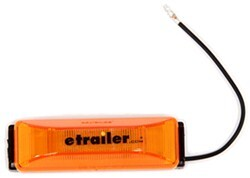 Thinline LED Trailer Clearance or Side Marker Light w/ Bracket - Submersible - 3 Diodes - Amber Lens