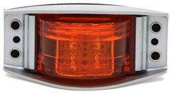 Optronics Armored LED Clearance and Side Marker Light - 6 Diodes - Steel Housing - Amber Lens