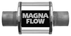 """Magnaflow Stainless Oval Muffler with Tip Race Series Inlet-Outlet 3/"""" inlet"""