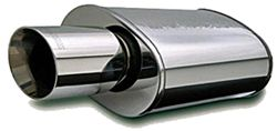 MagnaFlow Stainless Steel, Straight-Through Universal Muffler - Street Series - Polished Finish