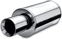 MagnaFlow Stainless Steel, Straight-Through Universal Muffler - Street Series - Mirror Finish
