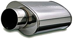 MagnaFlow Stainless Steel, Straight-Through Universal Muffler - Race Series - Polished Finish