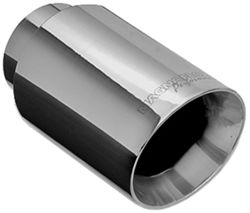 "MagnaFlow 4"" Exhaust Tip - Stainless, Weld-On for 2-1/4"" Tailpipe"