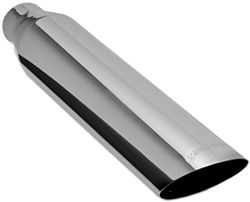 "MagnaFlow 3"" Exhaust Tip - Stainless, Weld-On for 2-1/2"" Tailpipe"