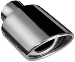 "MagnaFlow 3-1/4"" x 4-1/2"" Exhaust Tip - Stainless, Weld-On for 2-1/4"" Tailpipe"