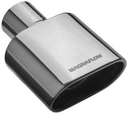 "MagnaFlow 2-3/4"" x 5-1/4"" Exhaust Tip - Stainless, Weld-On for 2-1/4"" Tailpipe"