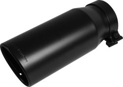 "MagnaFlow Exhaust Tip for 4"" Tailpipe - Clamp On - 5"" Diameter - Stainless Steel - Black"