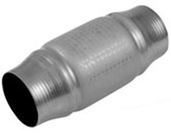 "MagnaFlow Metallic Catalytic Converter - Spun Stainless Steel - Universal - 2-1/2"" Inlet/Outlet"