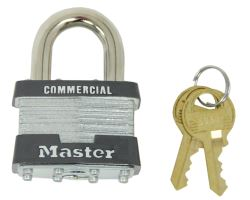 "Master Lock Laminated Steel Padlock - 1-3/4"" Wide - 5/16"" Diameter Shackle"