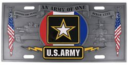 Army Specialty Plate - 3D License Plate