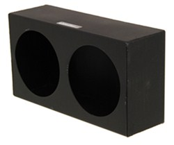 "Custer Light Mounting Box - (2) 4-1/2"" Round Holes - Black Powder Coated Steel"