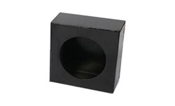 "Custer Light Mounting Box - 4"" Diameter Round Hole - Black Powder Coated Steel"