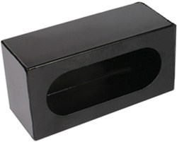 "Custer Light Mounting Box - 6-1/2"" Long Oval Hole - Black Powder Coated Steel"