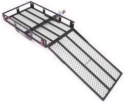 "MaxxTow 30x50 Wheelchair Carrier w/ 48"" Long Ramp - 2"" Hitches - Folding - Steel - 500 lbs"