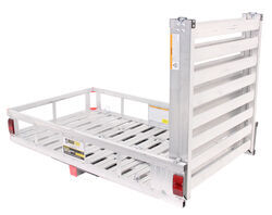 27x47 MaxxTow <strong>Cargo</strong> Carrier w/ 60&quot; Pivoting Ramp - 2&quot; Hitches - Aluminum - 500 lbs. - MT70275