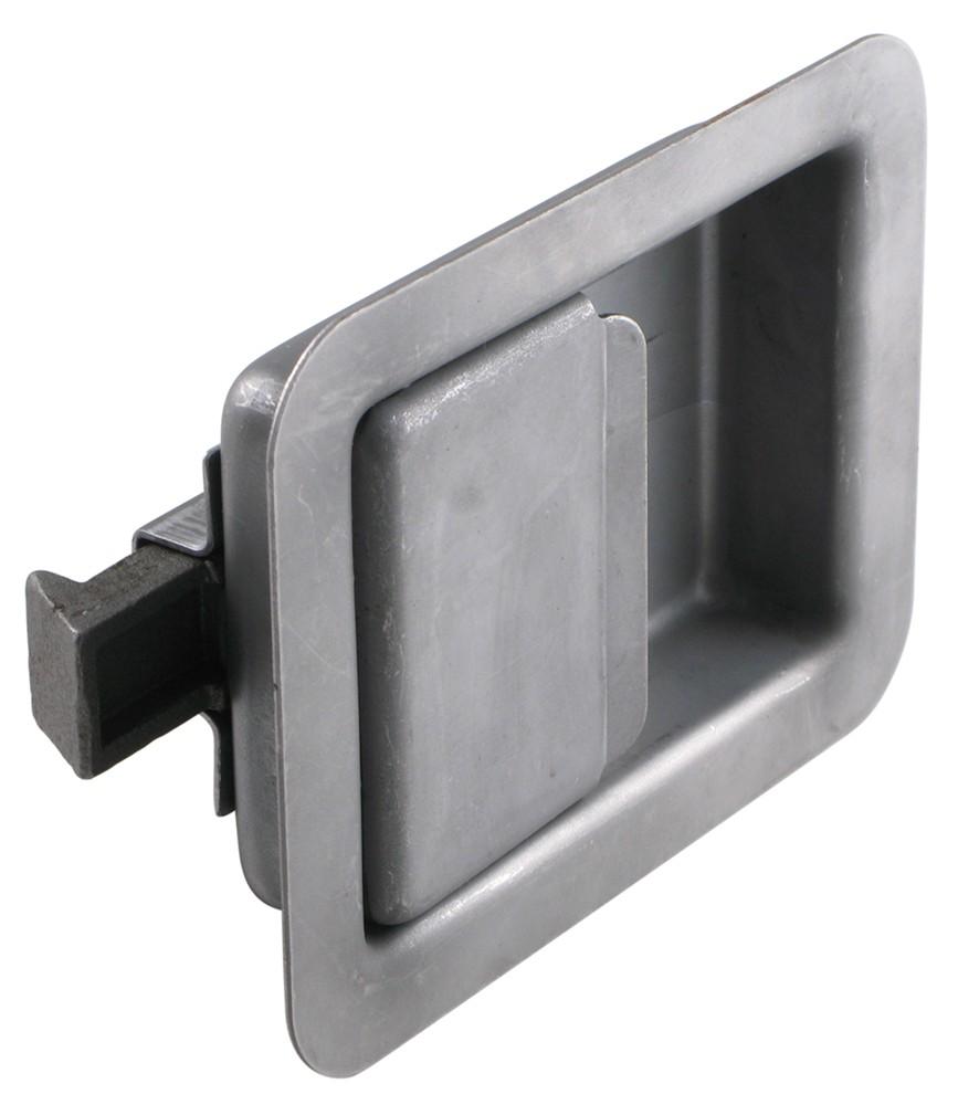 Full size non locking steel flush door latch redline for Door latch parts