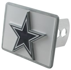 Dallas Cowboys NFL Trailer Hitch Receiver Cover - White Background with Star