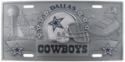 Dallas Cowboys NFL Sport Plate - 3D License Plate