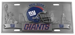 New York Giants NFL Sport Plate - 3D License Plate