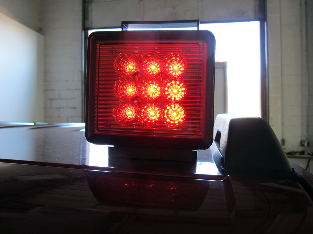 Pilot Magnetic Tow Lights Red Leds 4 Way Flat And 7