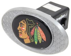 "Chicago Blackhawks 2"" NHL Trailer Hitch Receiver Cover - Zinc"