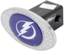 "Tampa Bay Lightning 2"" NHL Trailer Hitch Receiver Cover - Zinc"