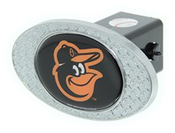 "Baltimore Orioles 2"" MLB Trailer Hitch Receiver Cover - Zinc"