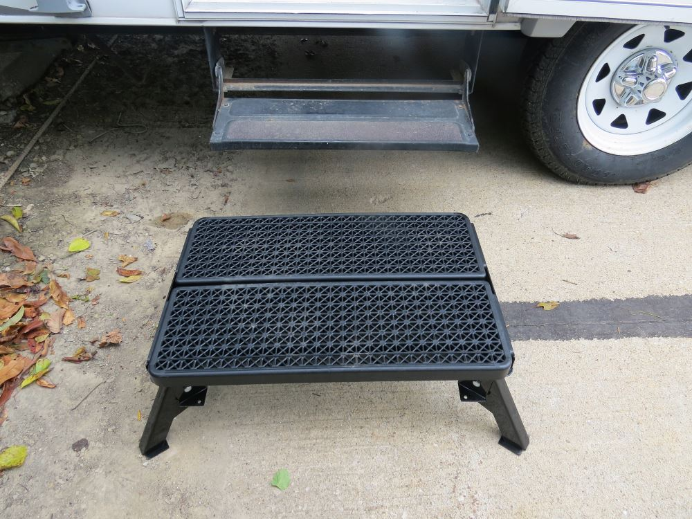 Adjustable Height Folding Plastic Platform Step With