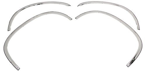 putco stainless steel fender trim for cadillac escalade ext