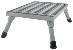Adjustable-Height, Folding Aluminum Platform Step with Non-Slip Rubber Feet - 1,000 lbs