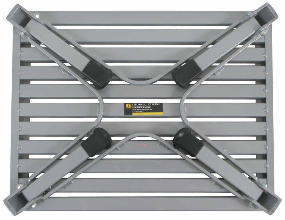 Adjustable Height Folding Aluminum Platform Step With Non