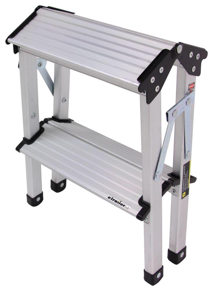 Stromberg Carlson Folding Step Stool Aluminum 15 1 2