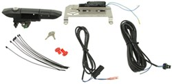 Pop & Lock Custom Tailgate Lock - Power and Manual Lock Kit - Black