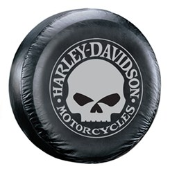 "Harley-Davidson Willie G. Skull Spare Tire Cover - Water Resistant - 27"" to 31"" Tires"