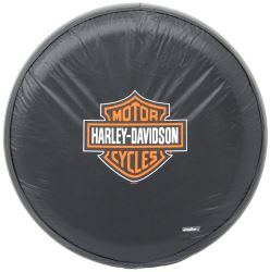 "Harley-Davidson Spare Tire Cover - Water Resistant - 27"" to 30"" - Orange and White"