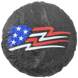 "USA Flag Spare Tire Cover - Water Resistant - 27"" to 31"""