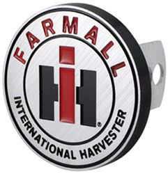 "IH Farmall Trailer Hitch Receiver Cover - 1-1/4"" and 2"" Hitches - Aluminum"