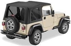 Pavement Ends Replay Soft Top Fabric for Jeep - Tinted Windows - Doors Not Included - Black Denim