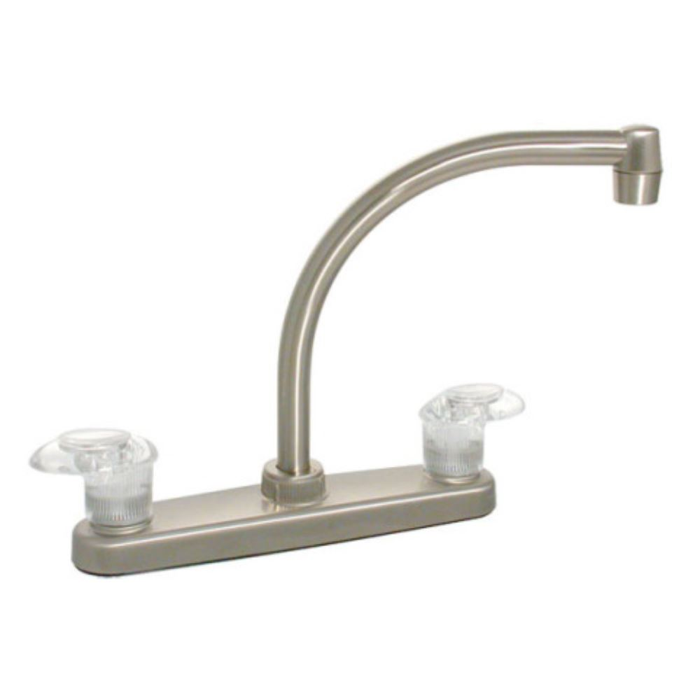 phoenix faucets 8 quot dual handle rv kitchen faucet hi arc