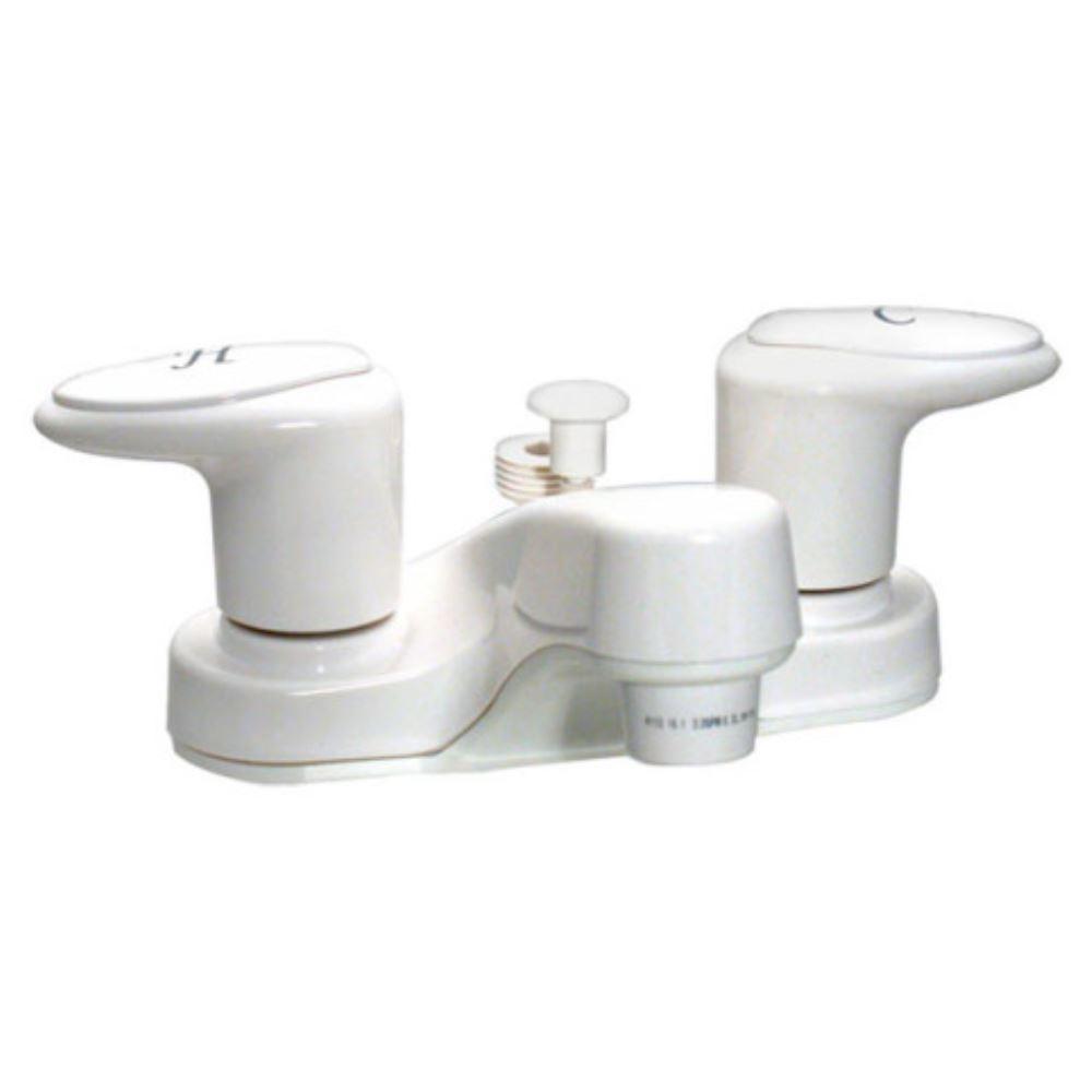 Phoenix Faucets 4 Dual Handle RV Bathroom Diverter Faucet White Phoen