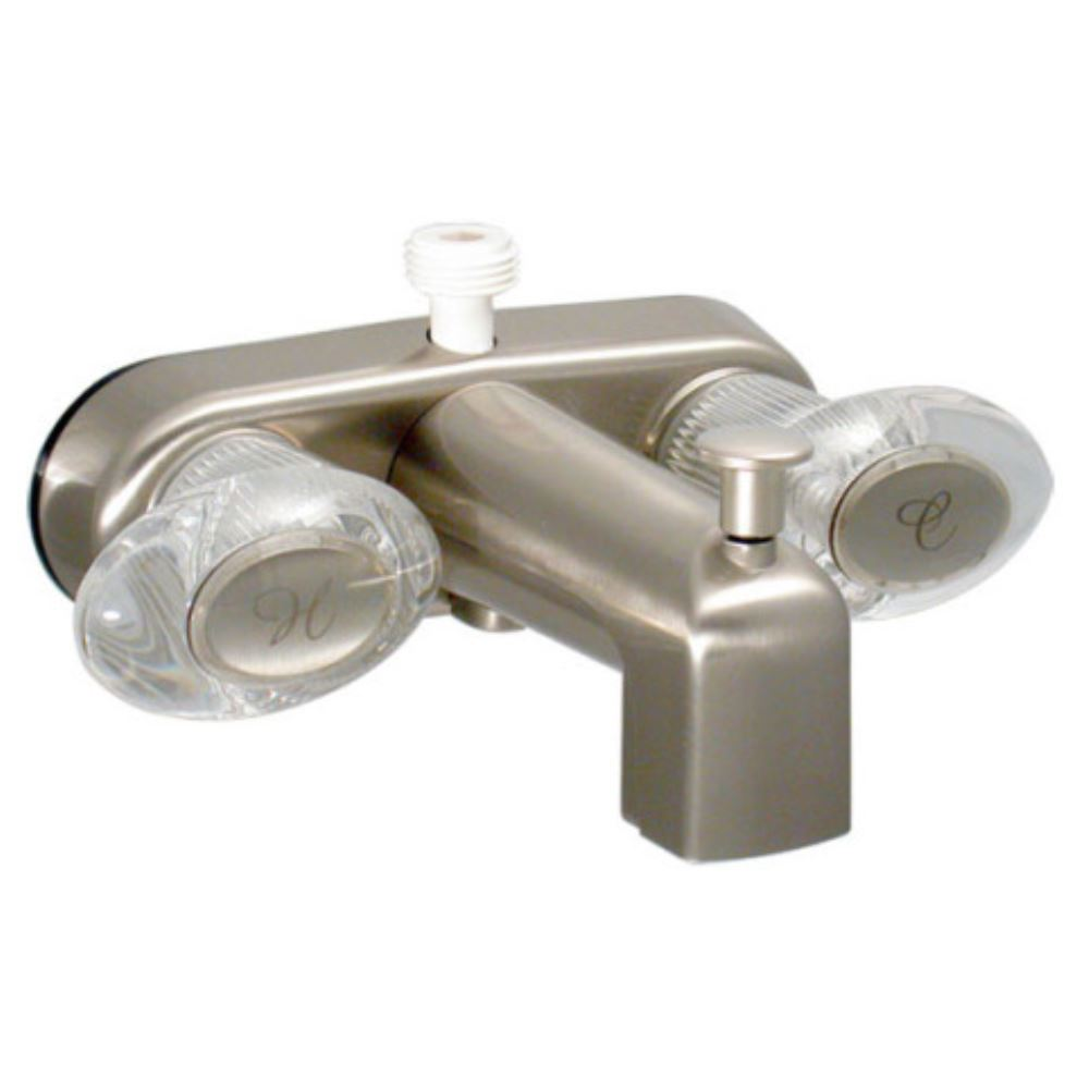 Phoenix Faucets 4 Dual Handle Rv Tub Diverter Faucet With D Spud Brushed Nickel Finish