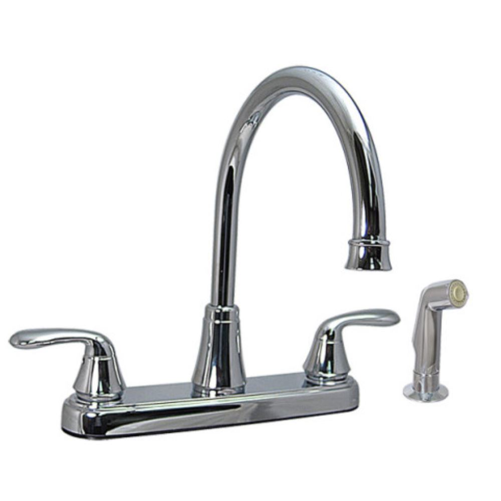 phoenix faucets 8 quot dual handle rv kitchen faucet with side