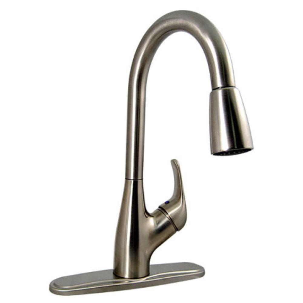 "Phoenix Faucets 8"" Single Handle RV Kitchen Faucet w/ Pull"