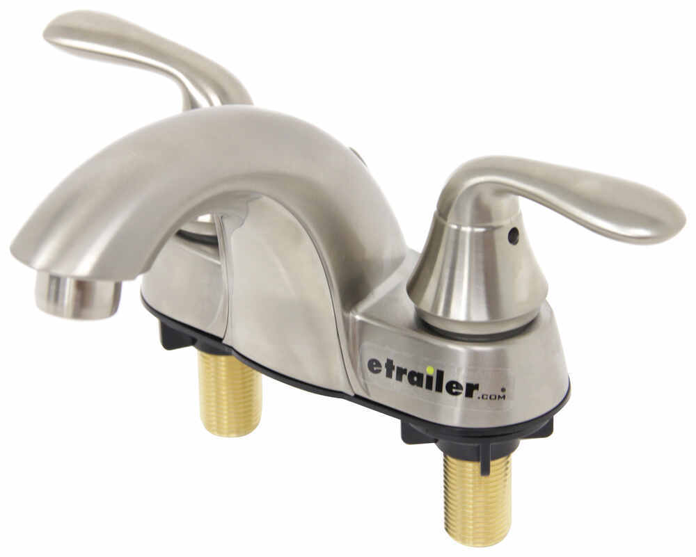 Phoenix Faucets 4 Dual Handle Rv Bathroom Faucet Low Arc Spout Brushed Nickel Finish