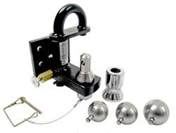 Convert-A-Ball Pintle Hook Combo with 3 Stainless Steel Balls - Bolt On - 25,000 lbs