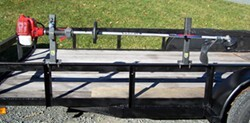 Pack'Em Single Trimmer Rack for Open Utility Trailers